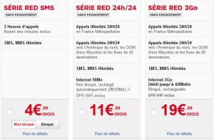 """Série """"Red"""" de SFR au 01/04/2013"""