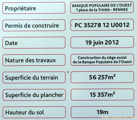 Visite de chantier d 39 une banque populaire grin ant for Cout d un permis de construire