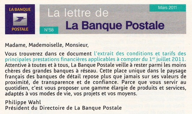 la banque postale et l 39 encaissement des ch ques en 2016 j 1 et des broutilles grin ant. Black Bedroom Furniture Sets. Home Design Ideas