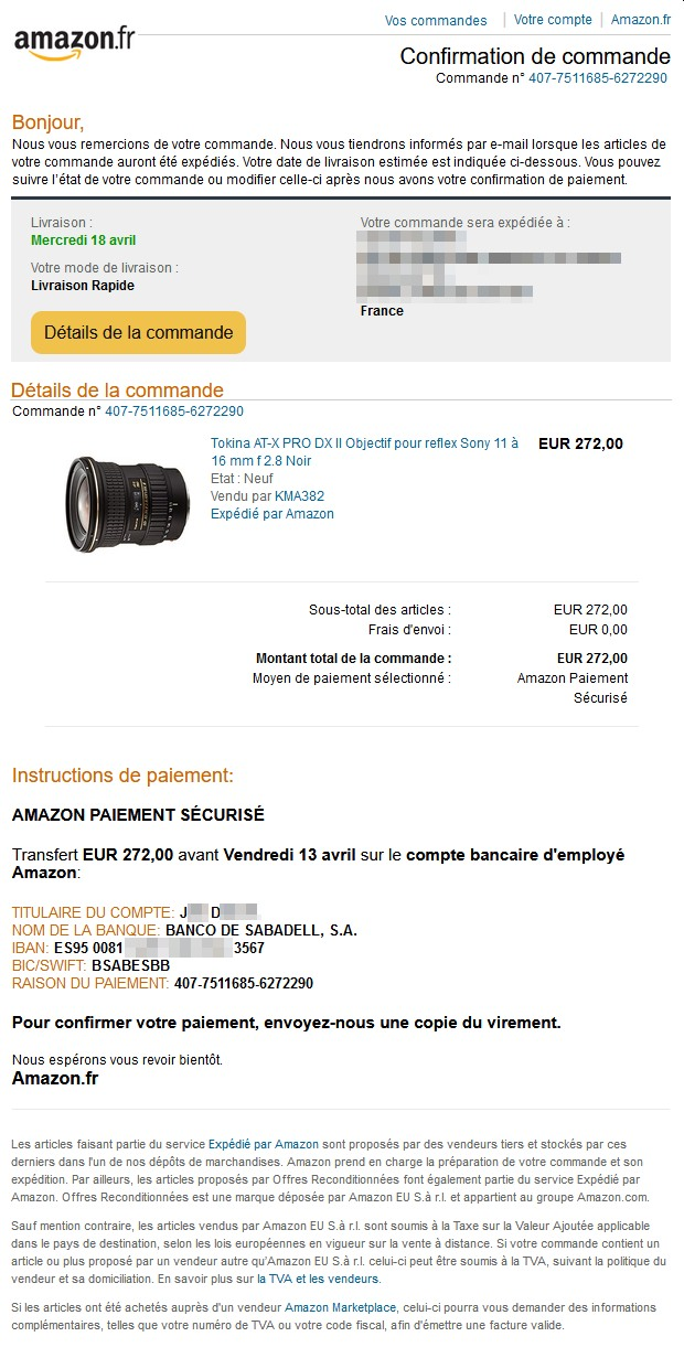 Mail 11 04 2018 23h31 Bon De Commande Amazon KMA382